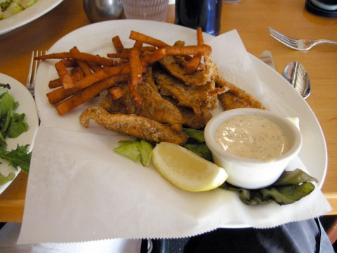 Hugo's gluten free fish and chips