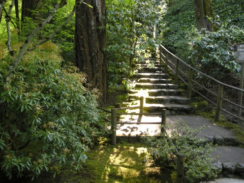 Stairway Near the Sand and Stone Garden