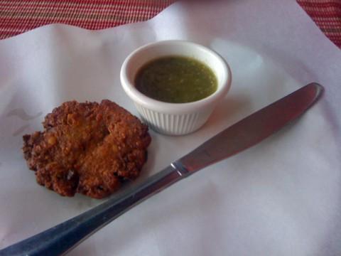 Bajiya - gluten-free chickpea fritter