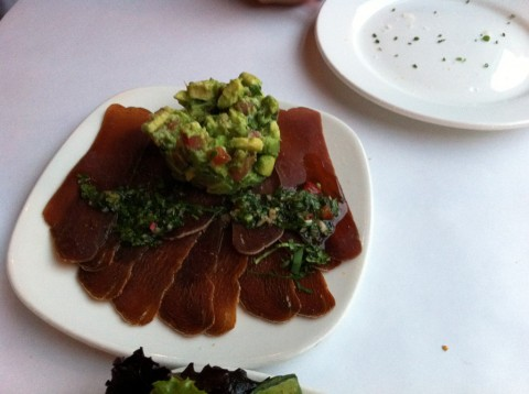 Cured Tuna with Avocado at Andina