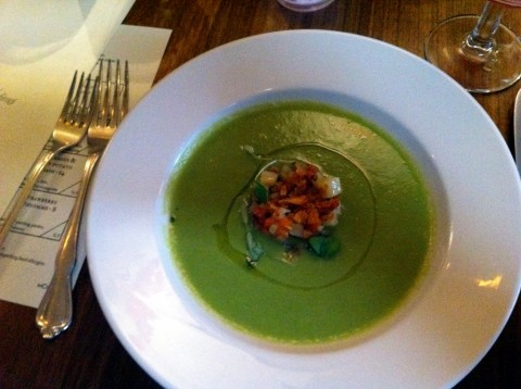 Gluten free sweet pea soup