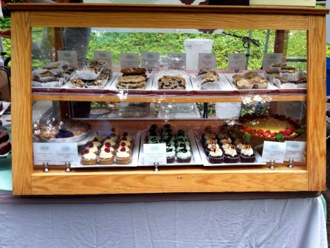 gluten-free baked goodies at Petunia's Stand