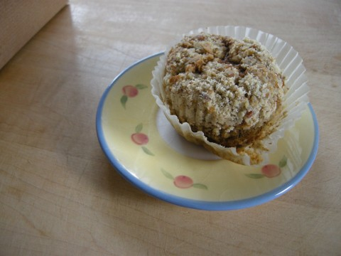 gluten-free carrot zucchini muffin