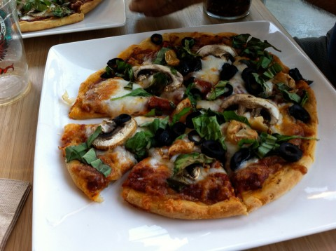 gluten-free pizza at Tula