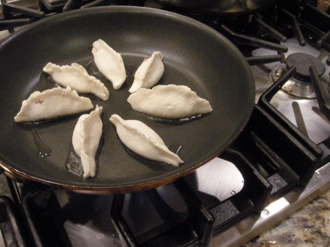 Gluten Free Pot Stickers in Process